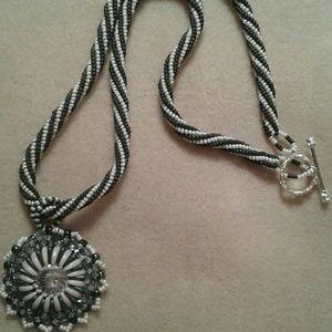 Jewelry - reversible swarovski crystal beaded necklace